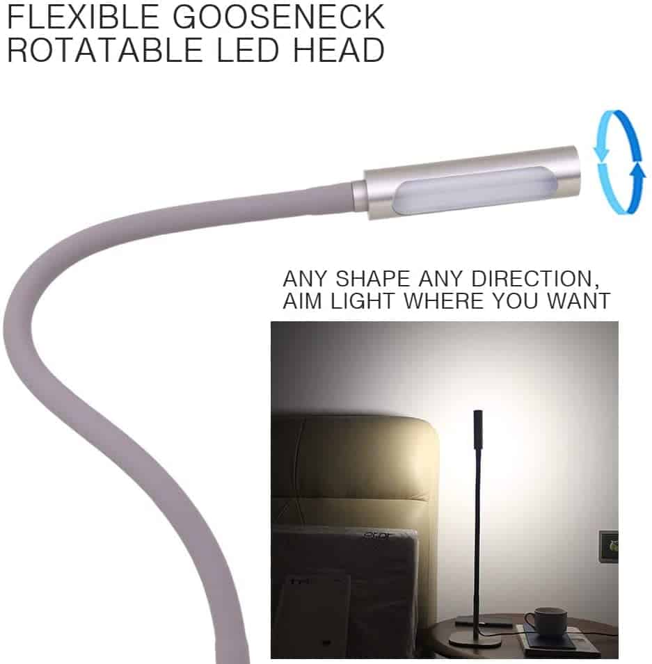 Bedside Reading Light with Ambient Options 4