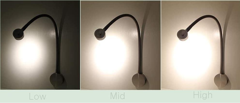 Headboard Reading Light & Lamp Different Light