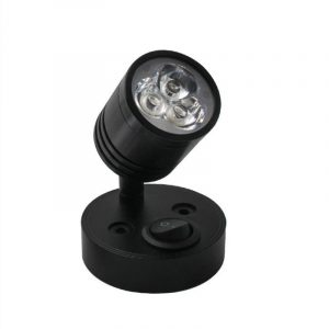Black Aluminum LED RV Reading Light