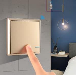 Luxury Golden Push-button Wireless Switch1